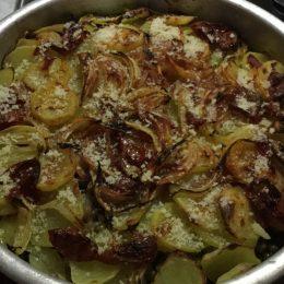 Capretto al forno con patate e piselli 😋