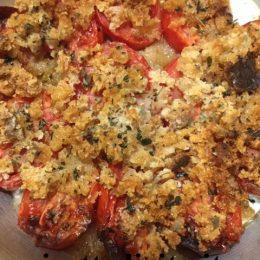 Pomodori con briciole di pane