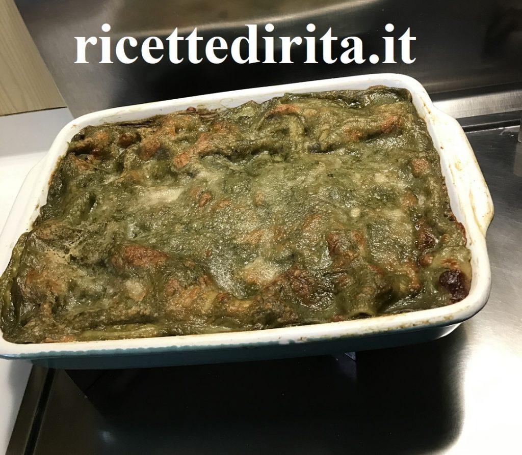 lasagna pesto e carciofi
