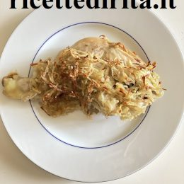 Cosce do pollo in crosta di patate